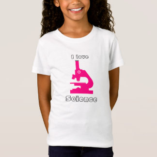 """""""I Love Science"""" Pink Microscope T-Shirt"""