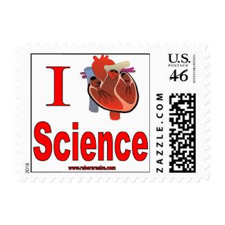I Love Science Postage Stamp
