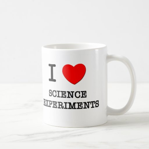 I Love Science Projects Classic White Coffee Mug