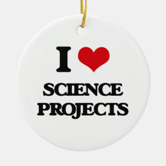 I Love Science Projects Double-Sided Ceramic Round Christmas Ornament