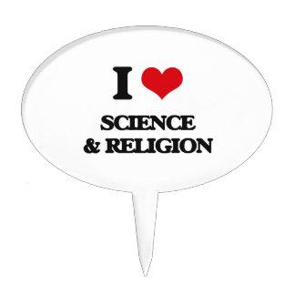 I Love Science & Religion Cake Picks