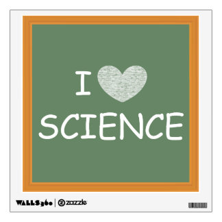 I Love Science Wall Decal