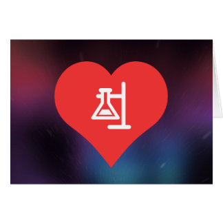 I Love Scientific Experiments Modern Greeting Card