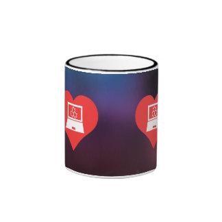 I Love Scientific Research Cool Symbol Ringer Coffee Mug