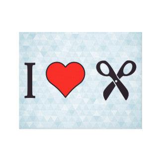 I Love Scissors Canvas Print