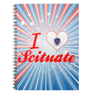 I Love Scituate, Massachusetts Spiral Notebook
