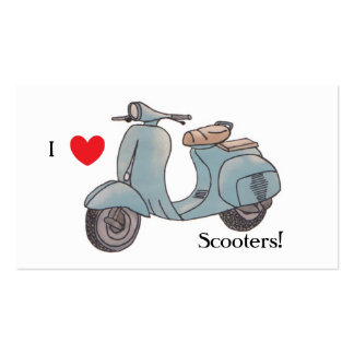I love scooters! Bookmark Business Card