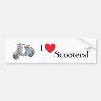 I love scooters! Bumper sticker Car Bumper Sticker