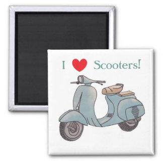 I Love Scooters! Magnet