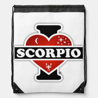 I Love Scorpio Drawstring Bag