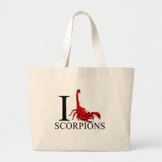 I Love Scorpions Tote Bags