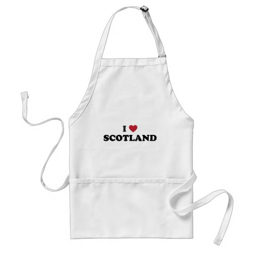 I Love Scotland Adult Apron