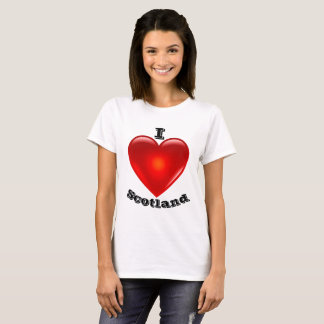 I Love Scotland, Big red heart of love T-Shirt