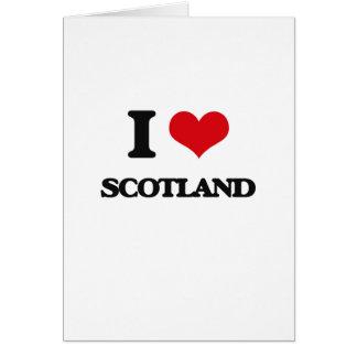 I Love Scotland Card