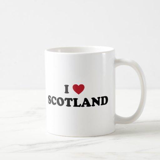 I Love Scotland Classic White Coffee Mug