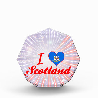 I Love Scotland, Connecticut Acrylic Award