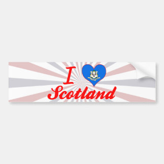 I Love Scotland, Connecticut Bumper Stickers
