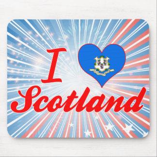 I Love Scotland, Connecticut Mouse Pad