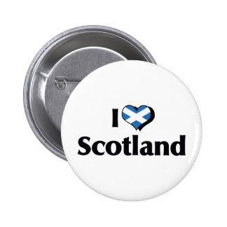 I Love Scotland Flag 2 Inch Round Button