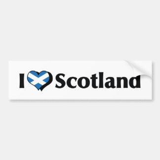 I Love Scotland Flag Bumper Sticker