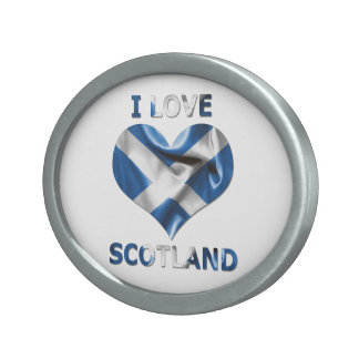 I Love Scotland Heart Flag Belt Buckle