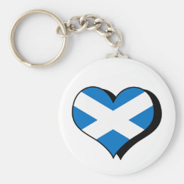 I Love Scotland Keychain