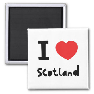 I love Scotland 2 Inch Square Magnet