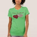 I Love Scotland Tartan Hearts T-Shirt