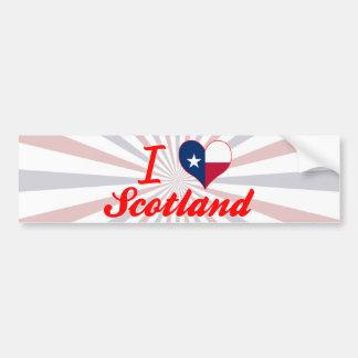 I Love Scotland, Texas Bumper Sticker