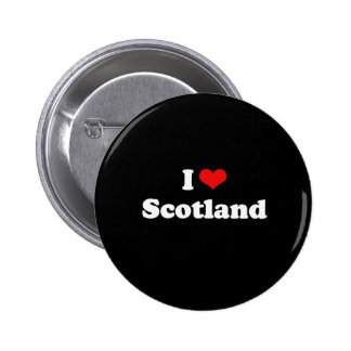 I Love Scotland Tshirt 2 Inch Round Button