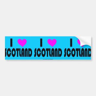 I Love Scotland UK bumper sticker