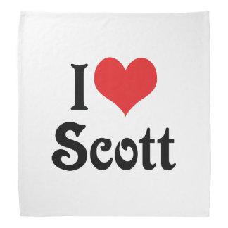 I Love Scott Bandana