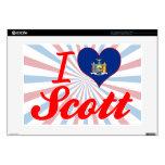"""I Love Scott, New York 15"""" Laptop Skins"""