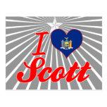 I Love Scott, New York Postcard