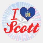 I Love Scott, New York Round Stickers