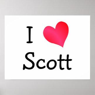 I Love Scott Poster