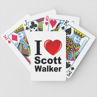 I Love Scott Walker Bicycle Playing Cards