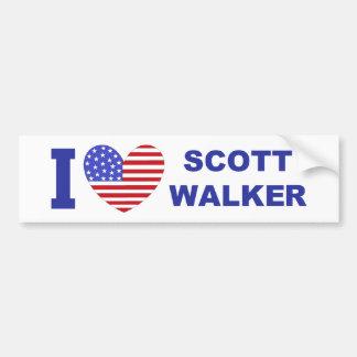 I Love Scott Walker Car Bumper Sticker