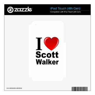 I Love Scott Walker Decal For iPod Touch 4G