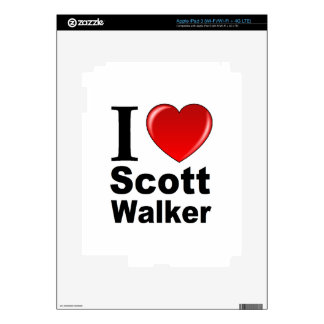 I Love Scott Walker iPad 3 Decals