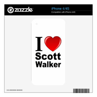 I Love Scott Walker iPhone 4 Decals