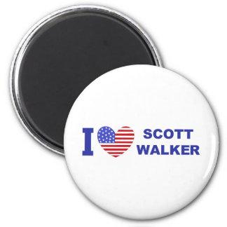 I Love Scott Walker Refrigerator Magnets