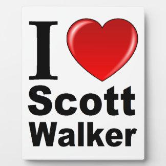 I Love Scott Walker Plaque