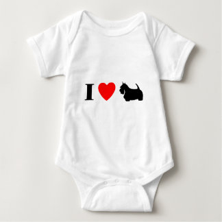 I Love Scottish Terriers Baby Creeper