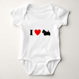 I Love Scottish Terriers Baby Creeper