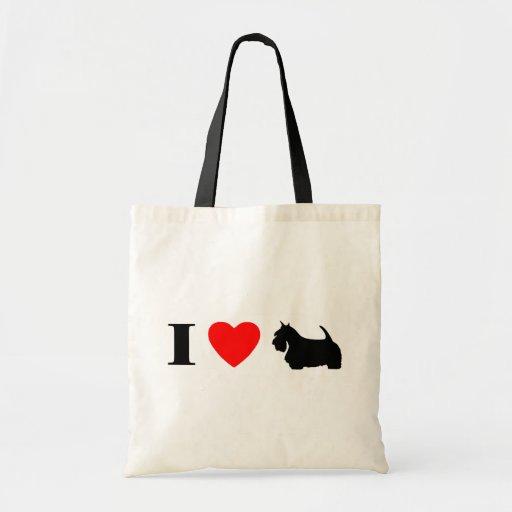 I Love Scottish Terriers Bag