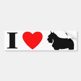 I Love Scottish Terriers Bumper Sticker Car Bumper Sticker