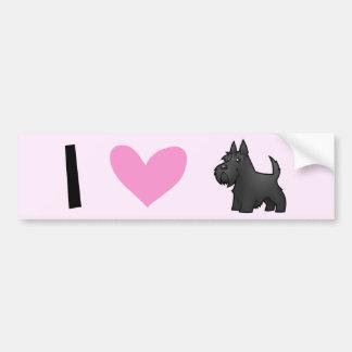 I Love Scottish Terriers Car Bumper Sticker