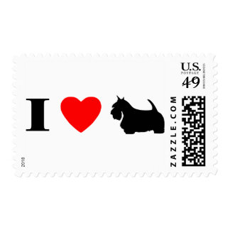 I Love Scottish Terriers Stamps