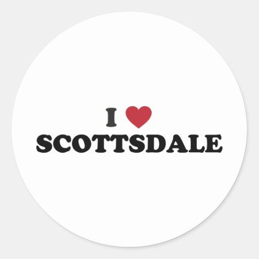 I Love Scottsdale Arizona Classic Round Sticker